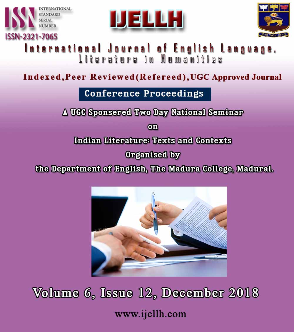 View Vol. 6 No. 12 (2018): Conference Proceedings : India Literature: Texts and Contexts