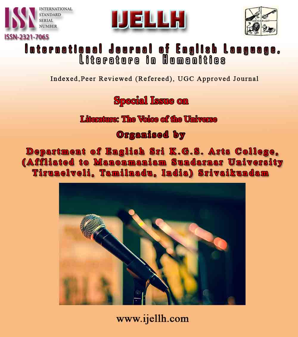 View Vol. 7 No. 2 (2019): SPECIAL ISSUE (VOLUME - 1)   LITERATURE: THE VOICE OF THE UNIVERSE